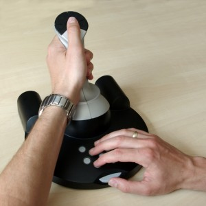 Hawk hydraulic joystick, lefthanded
