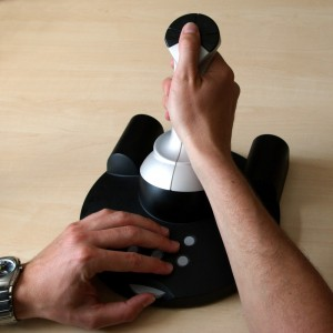 Hawk hydraulic joystick prototype with hands